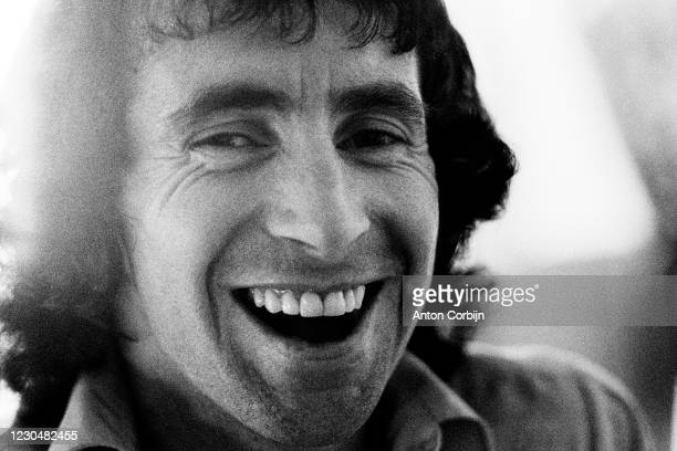Musician Bon Scott from AC/DC music band, poses for a portrait, in 1978.
