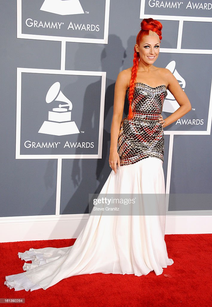 Musician Bonnie McKee attends the 55th Annual GRAMMY Awards at STAPLES Center on February 10, 2013 in Los Angeles, California.