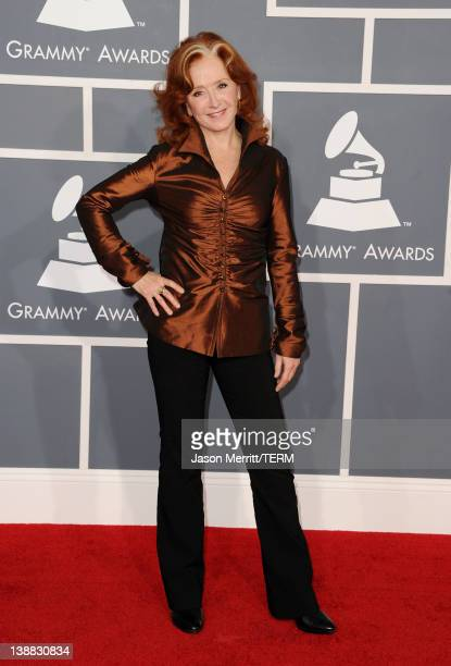 Musician Bonnie Raitt arrives at the 54th Annual GRAMMY Awards held at Staples Center on February 12 2012 in Los Angeles California