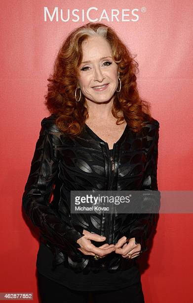 Musician Bonnie Raitt attends the 25th anniversary MusiCares 2015 Person Of The Year Gala honoring Bob Dylan at the Los Angeles Convention Center on...