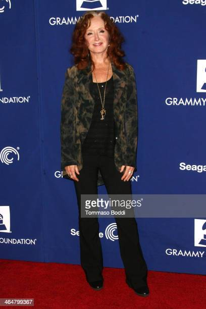 Musician Bonnie Raitt attends the A Song Is Born 16th Annual GRAMMY Foundation Legacy Concert held at The Wilshire Ebell Theatre on January 23 2014...