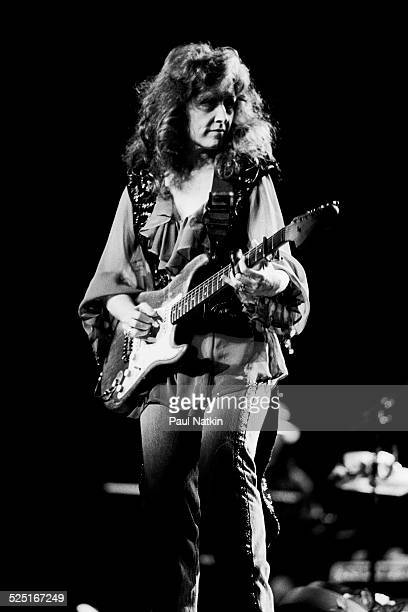 Musician Bonnie Raitt performs onstage at the Verizon Center Indianapolis Indiana August 1 1991