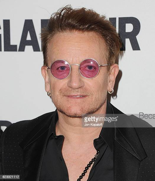 Musician Bono arrives at Glamour Women Of The Year 2016 at NeueHouse Hollywood on November 14 2016 in Los Angeles California