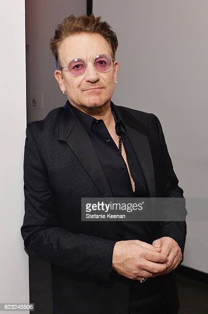 Musician Bono attends Glamour Women Of The Year 2016 at NeueHouse Hollywood on November 14 2016 in Los Angeles California