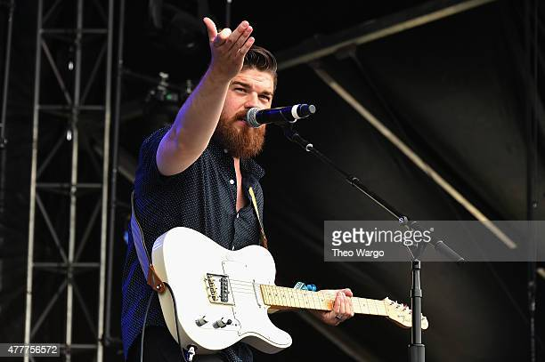 Musician Boots Copeland of Knox Hamilton performs onstage during day 2 of the Firefly Music Festival on June 19, 2015 in Dover, Delaware.