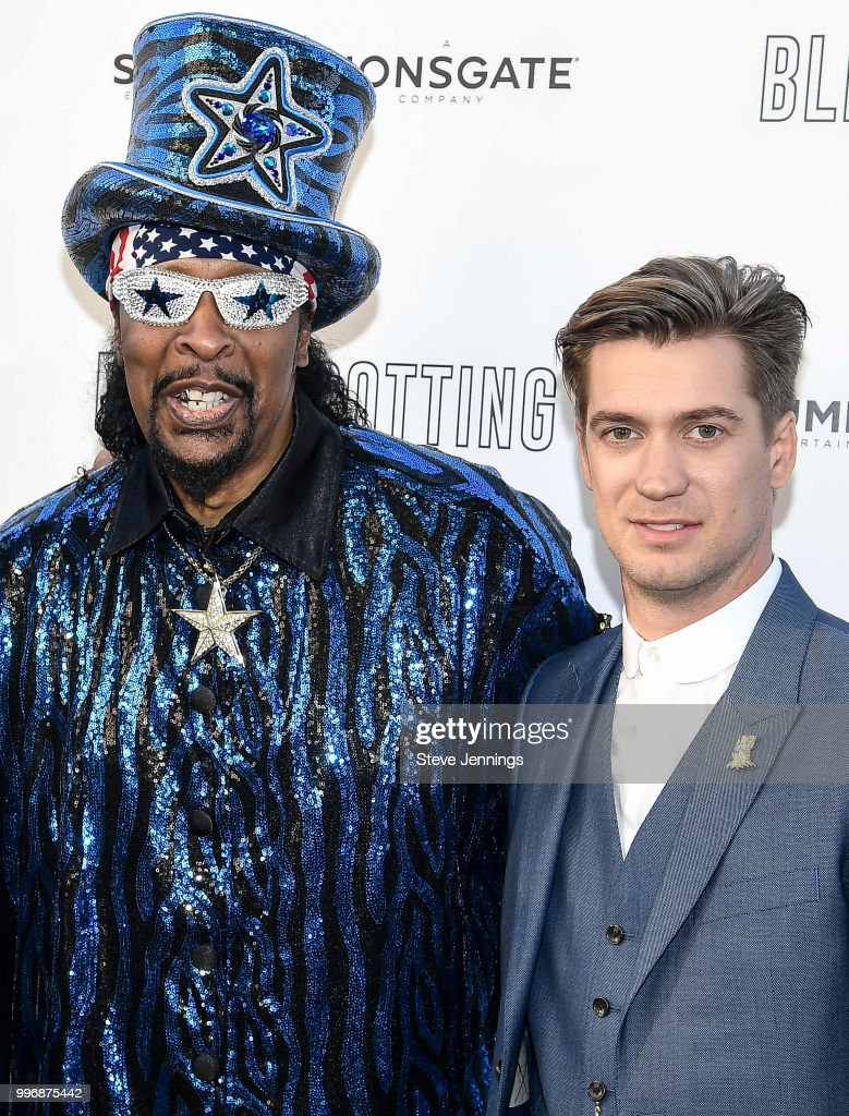 Musician Bootsy Collins and Actor & Co-Writer Rafael Casal attend the Premiere of Summit Entertainment's 'Blindspotting' at The Grand Lake Theater on July 11, 2018 in Oakland, California.