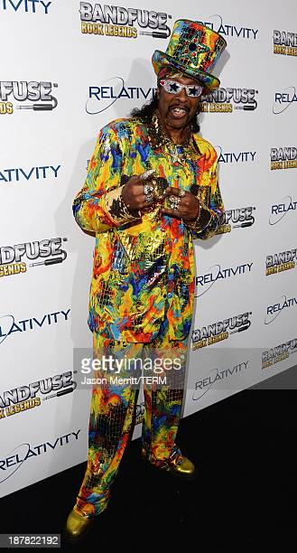 Musician Bootsy Collins attends the BandFuse Rock Legends video game launch event at House of Blues Sunset Strip on November 12 2013 in West...
