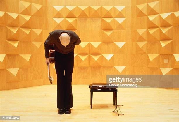 Musician bowing