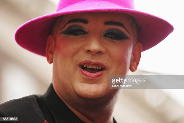 Musician Boy George takes part in the annual Gay Pride street march through central London on July 4 2009 in London England This years parade theme...