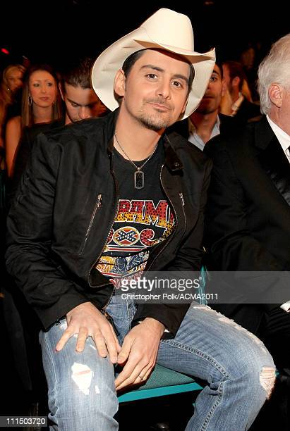 f286fe0e4ad94 Musician Brad Paisley backstage at the 46th Annual Academy Of Country Music  Awards held at the