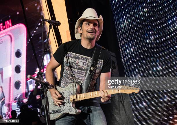 Musician Brad Paisley performs at Northwell Health at Jones Beach Theater on August 3 2017 in Wantagh New York