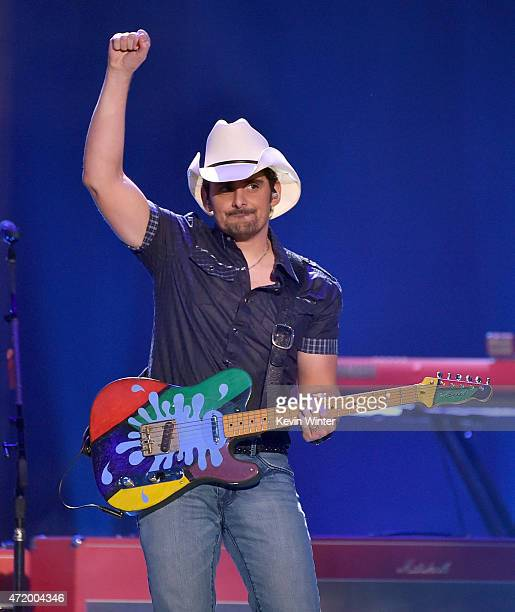 Musician Brad Paisley performs onstage during the 2015 iHeartRadio Country Festival at The Frank Erwin Center on May 2 2015 in Austin Texas The 2015...
