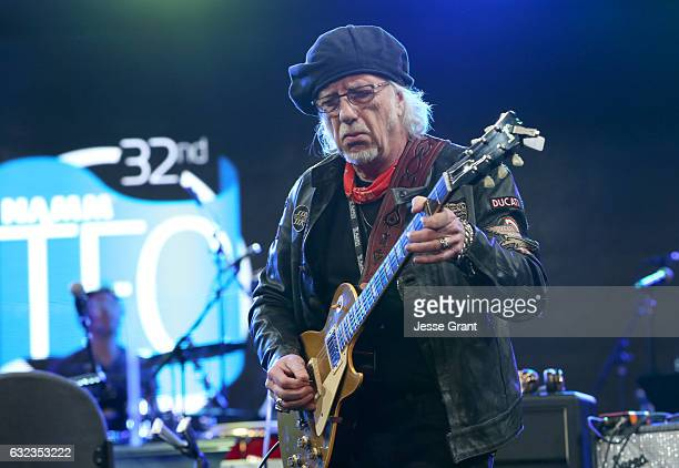 Musician Brad Whitford performs onstage at the TEC Awards during NAMM Show 2017 at the Anaheim Hilton on January 21 2017 in Anaheim California