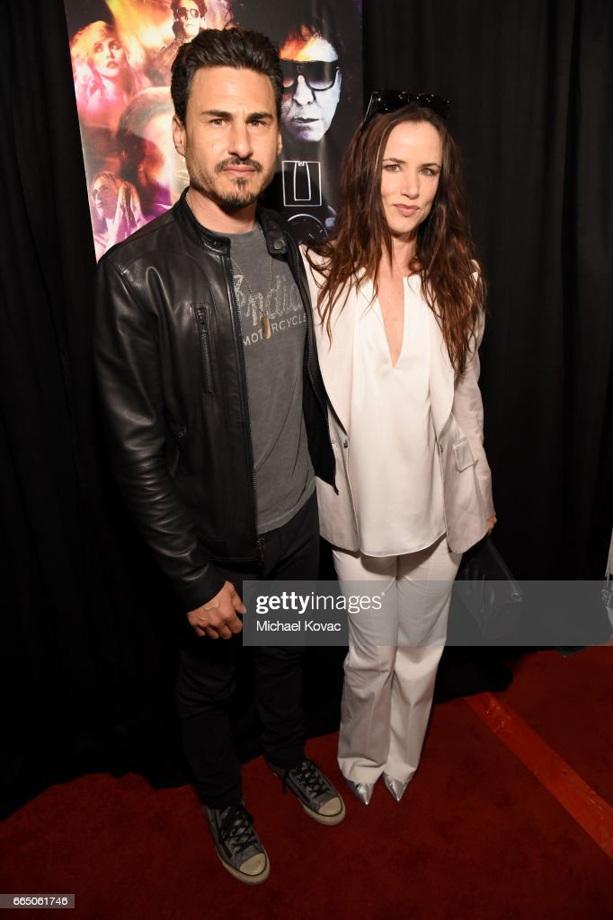 Musician Brad Wilk (L) and actress/singer Juliette Lewis attends the screening for 'SHOT! The Psycho Spiritual Mantra of Rock' at The Grove presented by CITI on April 5, 2017 in Los Angeles, California.