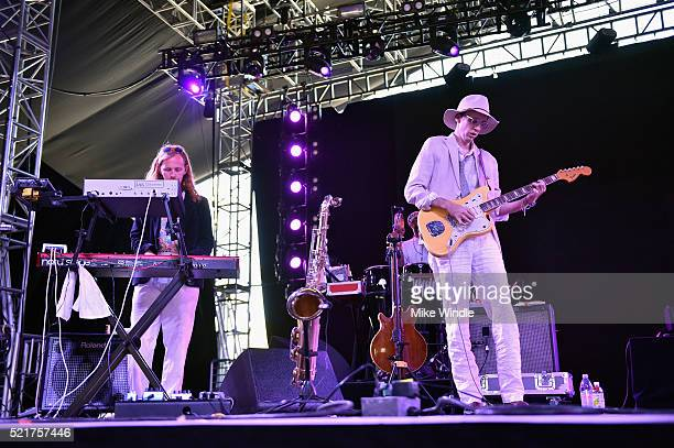 Musician Bradford Cox of Deerhunter performs onstage during day 2 of the 2016 Coachella Valley Music & Arts Festival Weekend 1 at the Empire Polo...