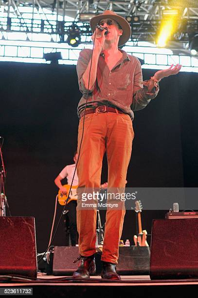 Musician Bradford Cox of Deerhunter performs onstage during day 2 of the 2016 Coachella Valley Music & Arts Festival Weekend 2 at the Empire Polo...