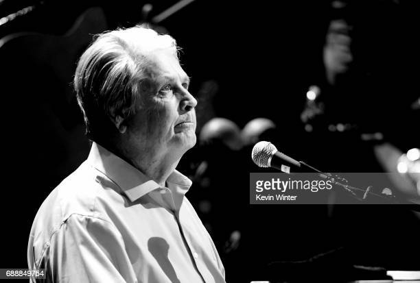 Musician Brain Wilson performs Pet Sounds at the Pantages Theatre on May 26 2017 in Los Angeles California