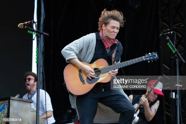 Musician Brandi Carlile performs during the 2018 Austin City Limits Music Festival at Zilker Park on October 13, 2018 in Austin, Texas.