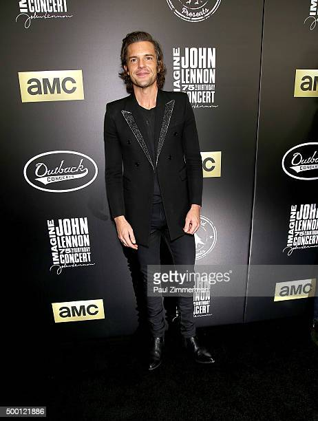 Musician Brandon Flowers attends the Imagine John Lennon 75th birthday concert at The Theater at Madison Square Garden on December 5 2015 in New York...