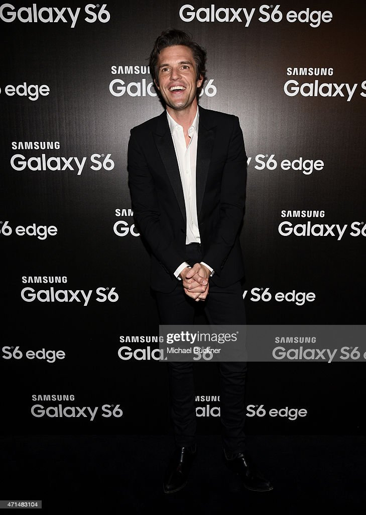 Musician Brandon Flowers attends the Samsung Studio LA Launch Event across from the Grove on April 28, 2015 in Los Angeles, California.