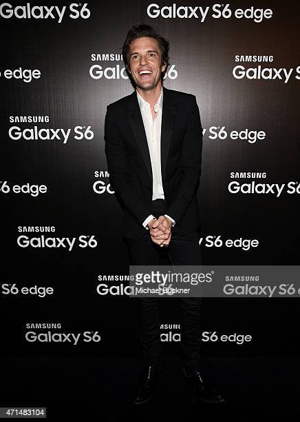 Musician Brandon Flowers attends the Samsung Studio LA Launch Event across from the Grove on April 28 2015 in Los Angeles California