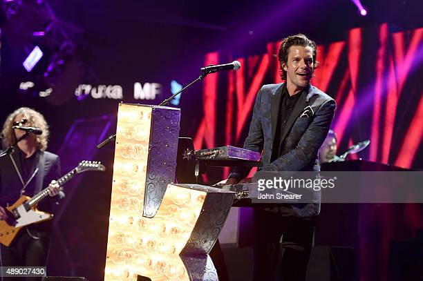 Musician Brandon Flowers of The Killers performs onstage at the 2015 iHeartRadio Music Festival at MGM Grand Garden Arena on September 18 2015 in Las...
