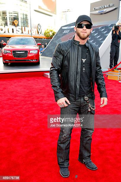 Musician Brantley Gilbert attends the 2014 American Music Award at Nokia Theatre LA Live on November 23 2014 in Los Angeles California