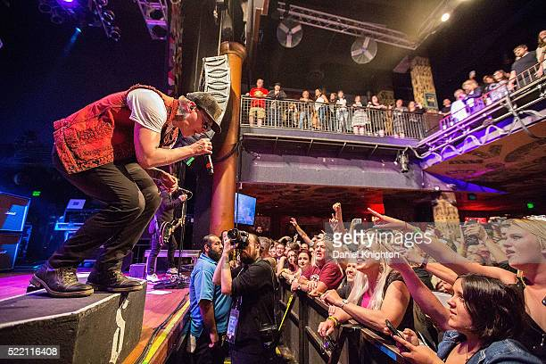 Musician Brent Smith of Shinedown performs on stage at House of Blues San Diego on April 17 2016 in San Diego California