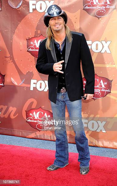 17f1c1592fd9a Musician Bret Michaels arrives at the American Country Awards 2010 held at  the MGM Grand Garden