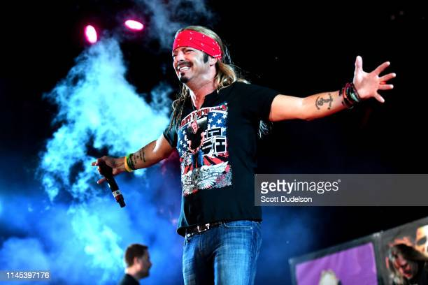 Musician Bret Michaels singer of the band Poison performs onstage during Day 1 of the 2019 Stagecoach Country Music Festival on April 26 2019 in...