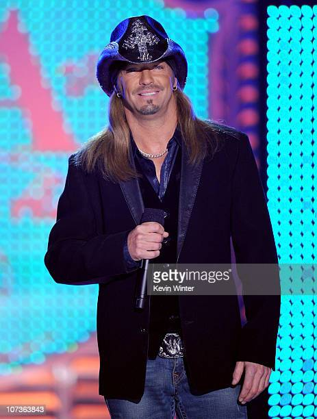 cf2e686046f09 Musician Bret Michaels speaks onstage during the American Country Awards  2010 held at the MGM Grand