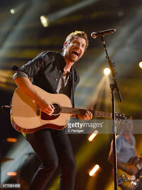 Musician Brett Eldredge performs onstage during the 2015 CMA Festival on June 13 2015 in Nashville Tennessee