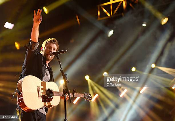 Musician Brett Eldredge performs onstage during the 2015 CMA Festival on June 13, 2015 in Nashville, Tennessee.