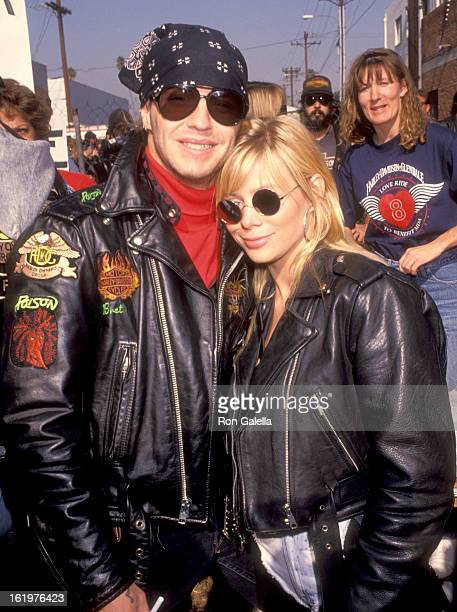 Musician Brett Michaels and girlfriend Susie Hatton attend the Love Ride 8 Eighth Annual Motocycle Rider's Fundraiser for the Muscular Dystrophy...