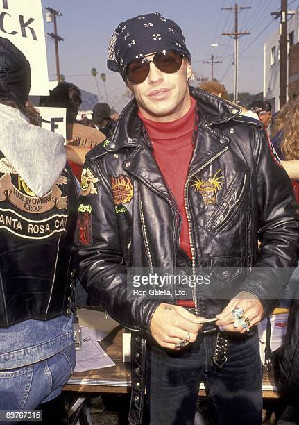 Musician Brett Michaels attends the Love Ride 8 Eighth Annual Motocycle Rider's Fundraiser for the Muscular Dystrophy Association on November 3 1991...