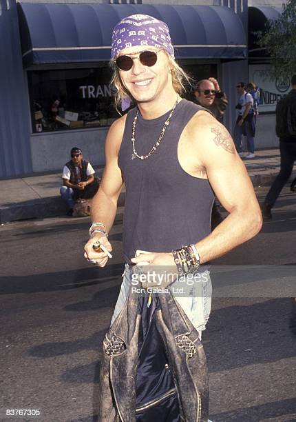 Musician Brett Michaels attends the Love Ride 9 Ninth Annual Motocycle Rider's Fundraiser for the Muscular Dystrophy Association on November 8 1992...