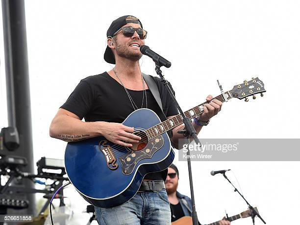 Musician Brett Young performs onstage during 2016 Stagecoach California's Country Music Festival at Empire Polo Club on April 30 2016 in Indio...
