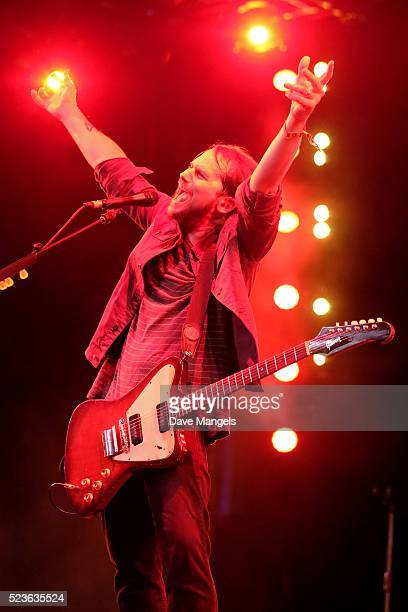 Musician Brian Aubert of Silversun Pickups performs onstage during day 2 of the 2016 Coachella Valley Music Arts Festival Weekend 2 at the Empire...