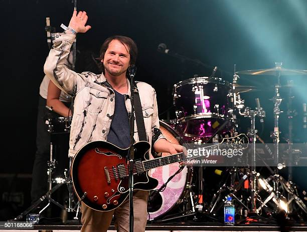Musician Brian Aubert of Silversun Pickups performs onstage during 1067 KROQ Almost Acoustic Christmas 2015 at The Forum on December 12 2015 in Los...