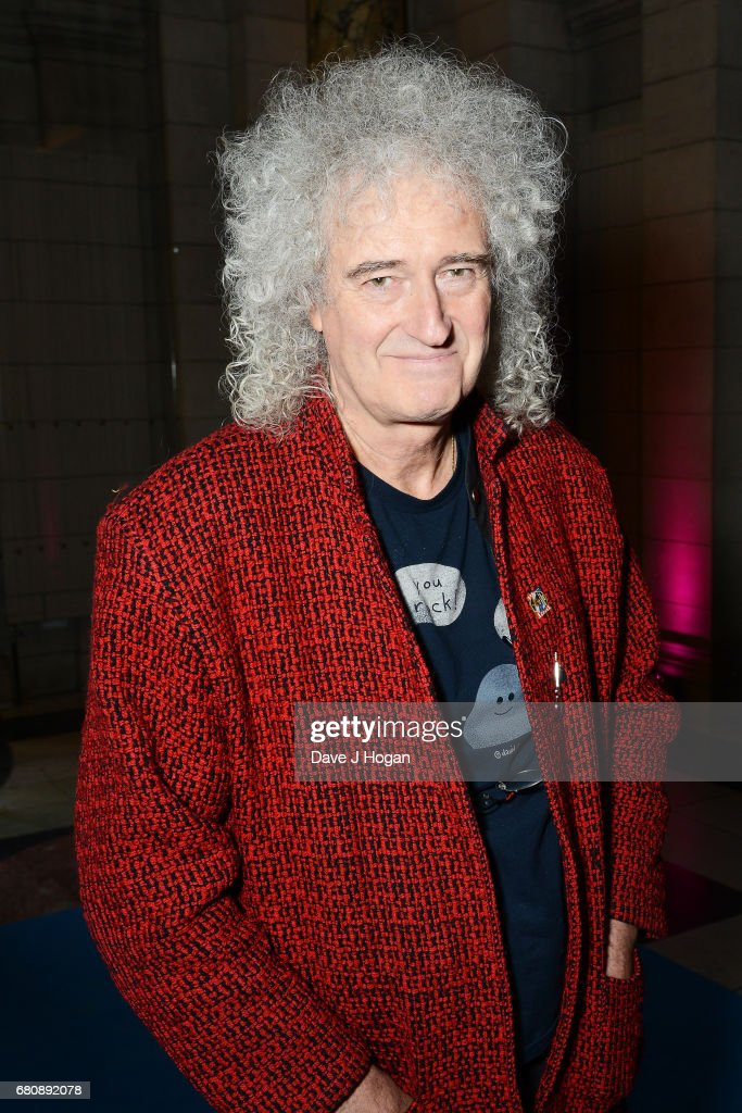 Musician Brian May attends The Pink Floyd Exhibition: 'Their Mortal Remains' private view at The V&A on May 9, 2017 in London, United Kingdom.