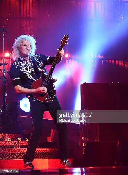Musician Brian May performs with Queen at Prudential Center on July 26 2017 in Newark New Jersey