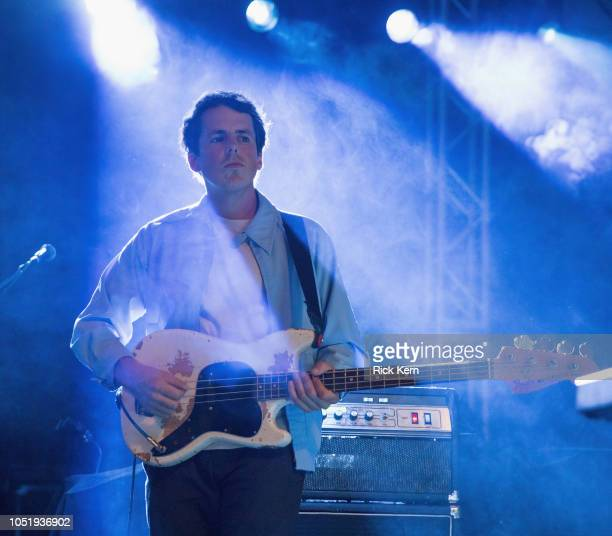 Musician Brian Murphy of Alvvays performs in concert as part of an 'Official 2018 ACL Fest Late Night Show' at Stubb's BarBQ on October 11 2018 in...