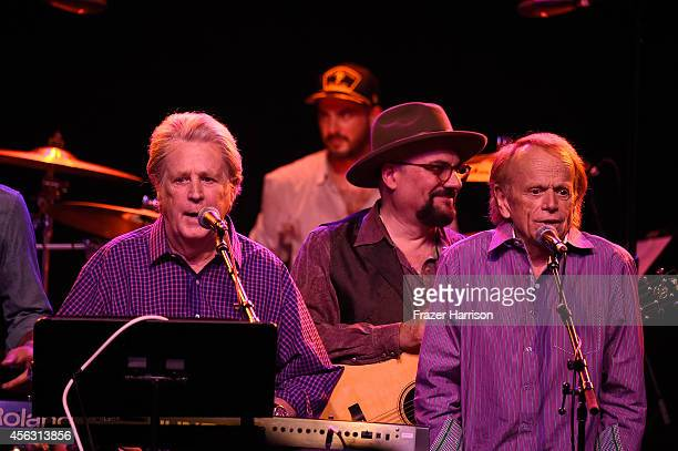 Musician Brian Wilson and Al Jardine of The Beach Boys perform at The Best Fest Presents GEORGE FEST An Evening To Celebrate The Music Of George...