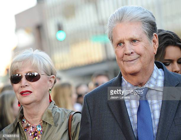 """Musician Brian Wilson and wife Melinda Ledbetter attend the premiere of """"Love & Mercy"""" at Samuel Goldwyn Theater on June 2, 2015 in Beverly Hills,..."""