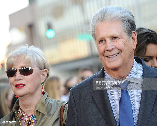 Musician Brian Wilson and wife Melinda Ledbetter attend the premiere of Love Mercy at Samuel Goldwyn Theater on June 2 2015 in Beverly Hills...