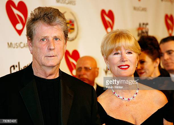 Musician Brian Wilson and wife Melinda Wilson arrive at the 2007 MusiCares Person of the Year honoring Don Henley at the Los Angeles Convention...