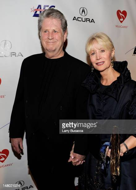 Musician Brian Wilson and wife Melinda Wilson arrive at the 2010 MusiCares Person Of The Year Tribute To Neil Young at the Los Angeles Convention...