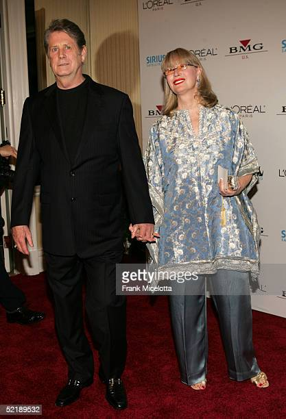 Musician Brian Wilson and wife Melinda Wilson arrive at the Clive Davis Annual Grammy Party at the Beverly Hills Hotel on February 12 2005 in Beverly...