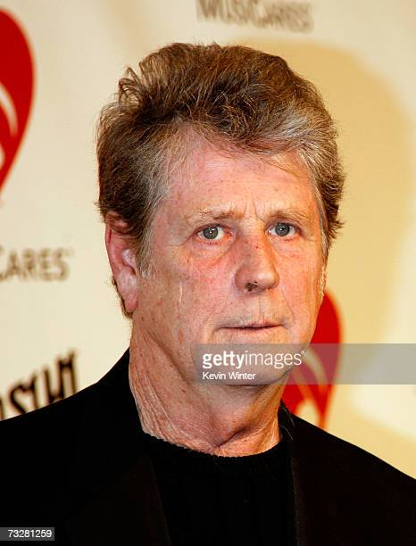 Musician Brian Wilson arrives at the 2007 MusiCares Person of the Year honoring Don Henley at the Los Angeles Convention Center on February 9 2007 in...