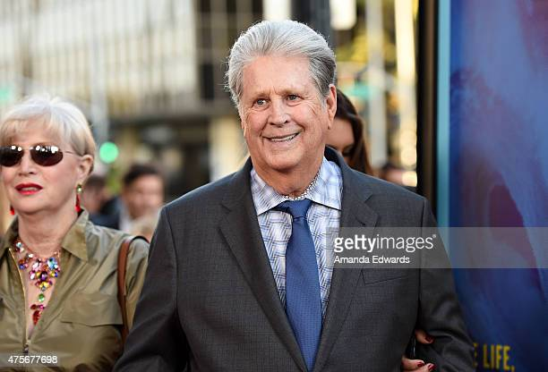 Musician Brian Wilson arrives at the Love Mercy Los Angeles premiere at the Samuel Goldwyn Theater on June 2 2015 in Beverly Hills California